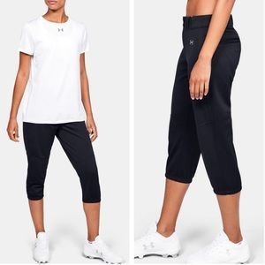 LIKE NEW Under Armour Cropped Softball Pants